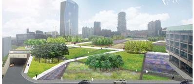 Porta nuova apre il cantiere del giardino sar pronto per for Giardino botanico milano
