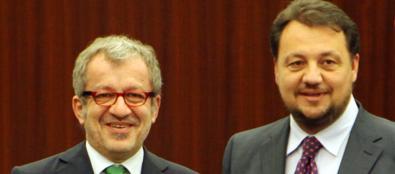 Roberto Maroni e Gianni Fava (Salmoirago)