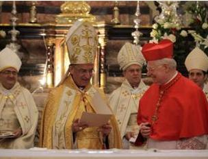 I cardinali Angelo Scola e  B�chara Boutros  Rai