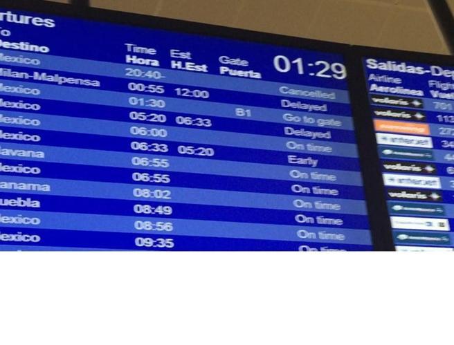 Cancun, 140 turisti diretti a Malpensa bloccati a terra da oltre 12 ore