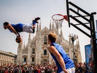 A canestro sotto il Duomo con il «Gallo»