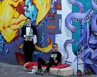 Una galleria d'arte sui muri di periferia