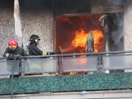 Incendio in via Pordenone