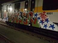 Imbrattano treno nel deposito della M3, arrestati tre writer