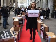 Sul red carpet sfila la protesta degli «esuberi» di Roberto Cavalli