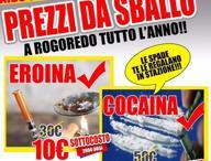 I volantini-denuncia: «A Rogoredo il supermarket della droga»