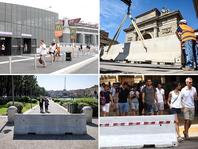 Milano, San Siro «sotto scorta»: ecco la cintura di protezione antiattentati