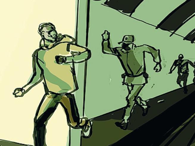 Inseguimento, scontro e fuga da brividi nel metrò