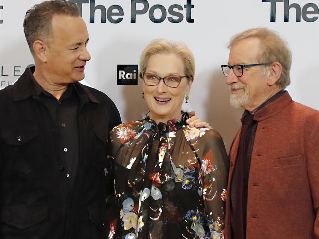 Streep, Hanks e Spielberg, le leggende di Hollywood a Milano