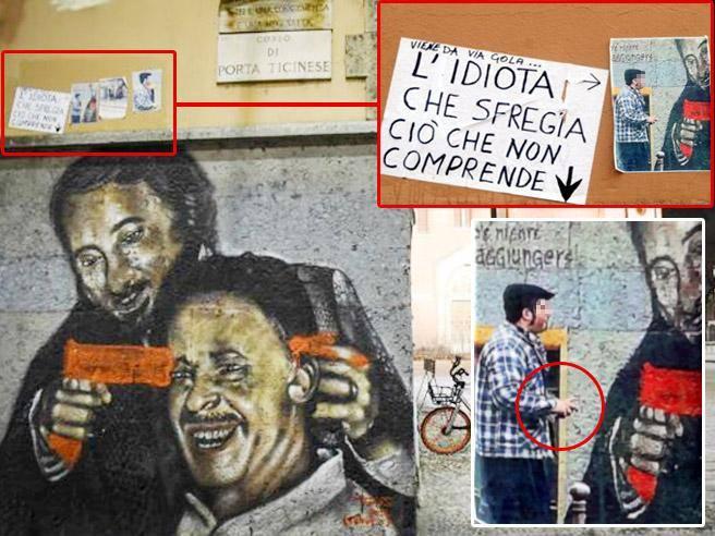 Milano, l'oltraggio al murale dedicato a Falcone e ...