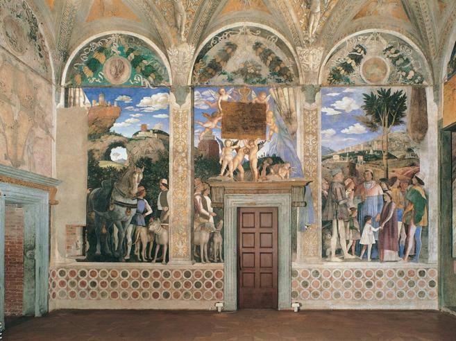 Camera degli sposi polemica sui restauri lettera aperta for Andrea mantegna camera degli sposi